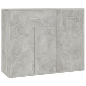 Servantă, gri beton, 88 x 30 x 70 cm, PAL