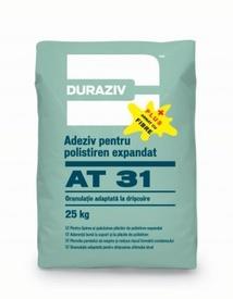 Adeziv și masă de şpaclu pentru polistiren expandat cu fibre de armare DURAZIV AT 31 plus