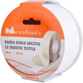 Banda Dublu Adeziva cu Insertie Textila / B[mm]: 50; L[m]: 10