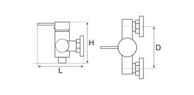 Baterie Cabina Dus 4001 / L[mm]: 109; H[mm]: 100; Hu[mm]: 145