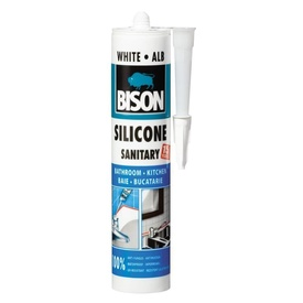 BISON Silicon Sanitar alb 280ml
