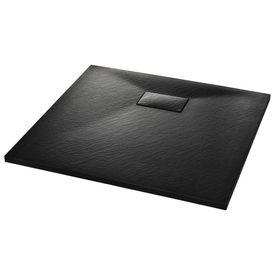 Cădiță de duș, negru, 90 x 80 cm, SMC
