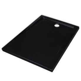 Cădiță pentru duș dreptunghiulară din ABS, 70 x 90 cm, negru