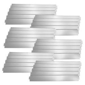 [casa.pro]® Set 30 bucati bordura decorativa pentru gradina - 30m - argintiu