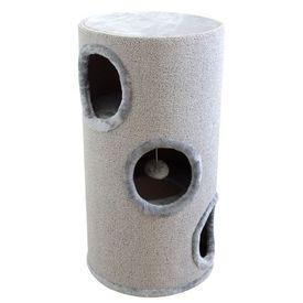 Căsuță din sisal pentru pisici, 70 cm, gri