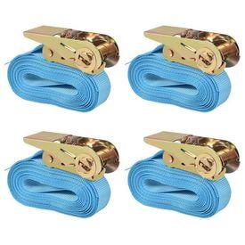 Chingi fixare cu clichet 4 buc. 0,8 tone, 6mx25mm, albastru