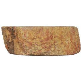 Chiuvetă, crem, 45 x 35 x 15 cm, piatră fosilă