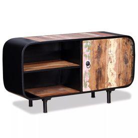 Comodă TV din lemn masiv reciclat, 90 x 30 x 48 cm