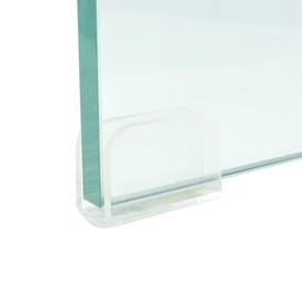 Comodă TV/Suport monitor, sticlă transparentă, 100 x 30 x 13 cm