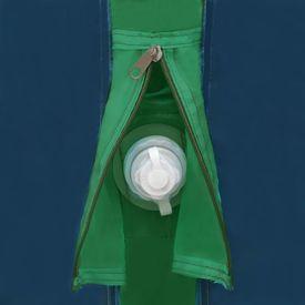 Cort de camping cu grinzi gonflabile, verde, 500x220x180 cm