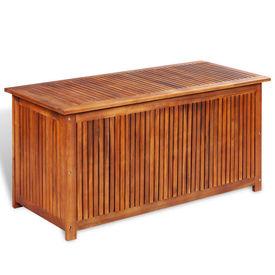 Cutie depozitare de exterior, lemn masiv de salcâm 117x50x58 cm