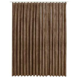 Draperie camuflaj cu cârlige, bej, 290 x 245 cm, catifea