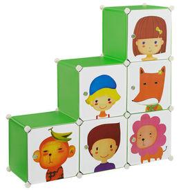 Dulap copii - dulap depozitare verde - DIY sistem asamblare raft
