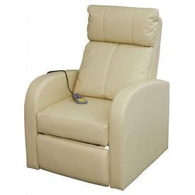 Fotoliu de masaj electric cu telecomandă, crem