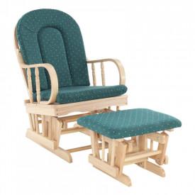 Fotoliu relaxant material lemn de fag verde GL RELAX GLIDER 87107