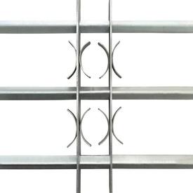 Grilaj de siguranță pentru ferestre cu 3 bare transversale 500-650 mm
