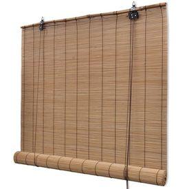Jaluzea tip rulou, bambus, 150 x 160 cm, maro