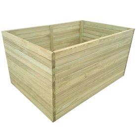 Jardinieră de grădină din lemn de pin tratat, 100x100x77 cm