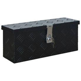 Ladă din aluminiu, negru, 485 x 140 x 200 mm