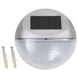 Lămpi solare de perete exterior 24 buc. argintiu rotund LED