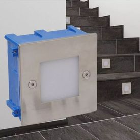 Lumini LED încastrate pentru scări 85 x 48 x 85 mm, 2 buc.