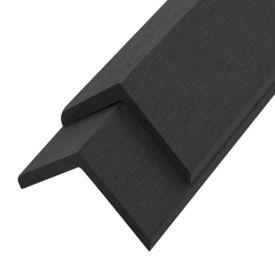 Margini cornier pentru terasă WPC, 5 buc, 170 cm, negru