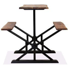 Masă de bar cu bănci, 120 x 50 x 107 cm, lemn masiv acacia
