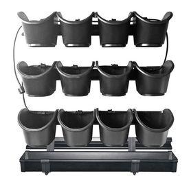 """Nature Jardinieră verticală de grădină """"Startset 2"""" negru, 60 x 60 cm"""