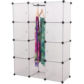 [neu.haus]® Dulap haine - dulap depozitare - DIY sistem asamblare raft