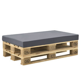 [neu.haus]® Husa pentru perna interior/exterior, 120 x 80 x 10 cm, 67% PVC / 33% Polietilena, gri inchis