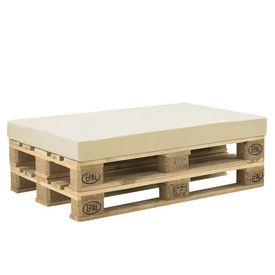 [neu.haus] Perna decorativa/burete cu husa pentru mobilier paleti HTSK-2203, 120 x 80 x 10 cm, 67% PVC / 33% Polietilena,bej