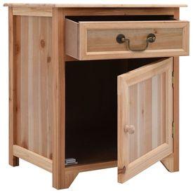 Noptieră, maro, 40x30x50 cm, lemn de paulownia