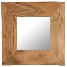 Oglindă cosmetică, 50 x 50 cm, lemn masiv de acacia