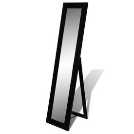 Oglindă cu suport înaltă dreptunghiulară cu ramă neagră
