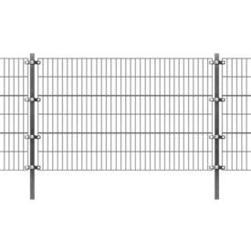 Panou gard cu stâlpi, antracit, 6 x 1,2 m