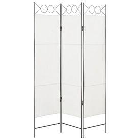 Paravan de cameră cu 3 panouri, alb, 120 x 180 cm