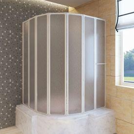 Paravan pliabil baie 7 panouri 140 x 168 cm cu suport de prosop