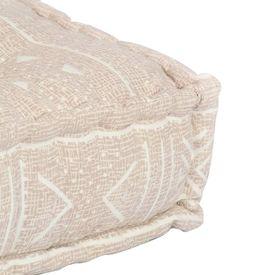 Pernă pentru canapea din paleți, bej, textil, petice