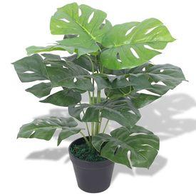Plantă artificială Monstera cu ghiveci, 45 cm, verde