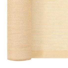 Plasă protecție vizuală, bej, 1 x 10 m, HDPE