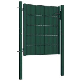 Poartă de gard, verde, 100 x 81 cm, oțel
