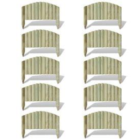 Prășitoare din butuci arcuiți 10 buc 55 cm