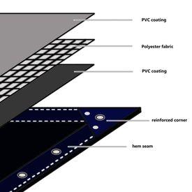 Prelată, alb, 6 x 8 m, 650 g/m²