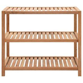 Raft de baie, 65 x 40 x 55 cm, lemn masiv de nuc