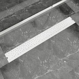 Rigolă duș liniară, model bule, oțel inoxidabil, 930 x 140 mm
