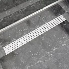 Rigolă duș liniară, model linie, oțel inoxidabil, 1030 x 140 mm