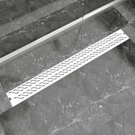 Rigolă duș liniară, model ondulat, oțel inoxidabil, 1030x140 mm
