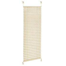 Roleta armonica / perdea plisata - 50 x 125 cm - crem - protectie impotriva luminii si a soarelui - jaluzea - fara gaurire