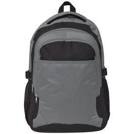 Rucsac pentru școală, 40 L, negru și gri