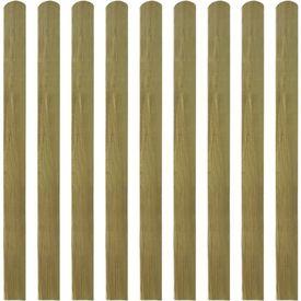 Scânduri de gard din lemn tratat, 10 buc, 120 cm